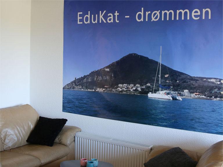 Tegning af Edukatone - EduKats skib